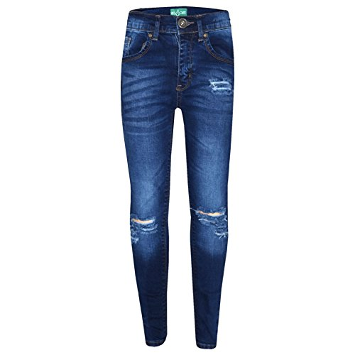 Girls Plain Skinny Jeans Cotton Trousers Turquoise Blue Yellow Pink Age 3-13 Years