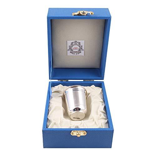 MSA JEWELS Indian Precious Metal Silver 92.5 Hallmark Certified Glass with Box (6.25 X 5 cm, 23 g)