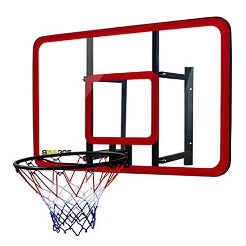 Canasta de Baloncesto Hoop De Baloncesto Montado En La Pared, Niños Y Adolescentes Admiten El Aro De Baloncesto De Entrenamiento Deportivo Al Aire Libre, con Base De Acero