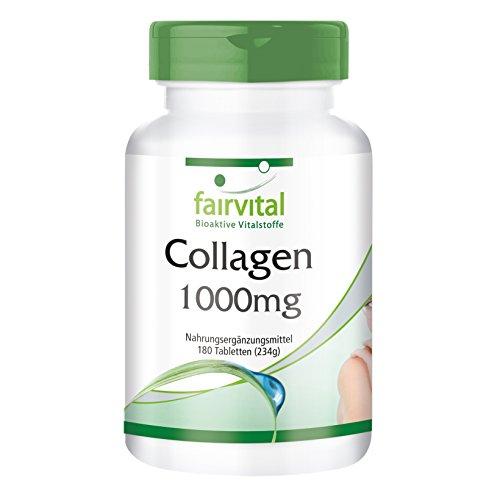 Colágeno 1000mg con Vitamina C y L-Ornitina - Dosis elevada - 180 Comprimidos - Calidad Alemana