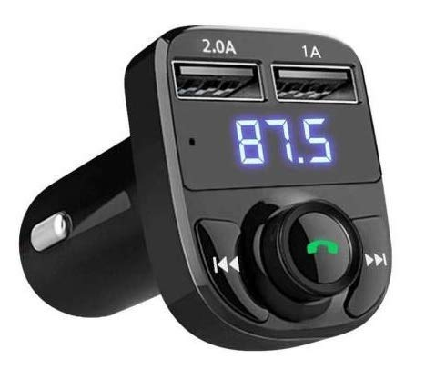 Hybite® CarX8 Wireless Car Charger Digital Display Wireless Bluetooth FM Transmitter LCD MP3 Player USB Charger MP3 Car FM Modulator
