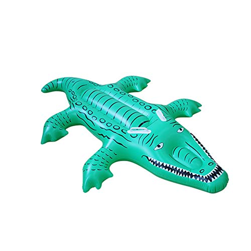 N / A Crocodile Inflatable Floating Row, Environmentally Friendly PVC, Children's Swimming air Cushion Floating Bed, Safe and Durable