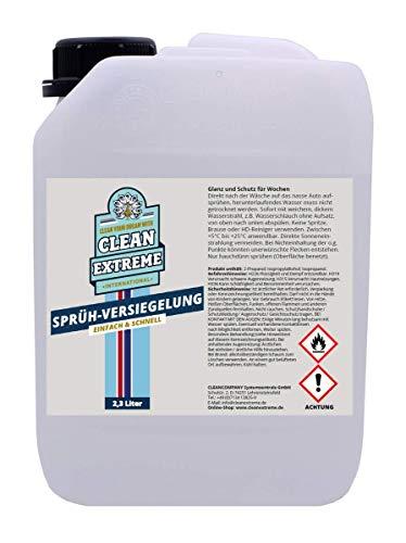 CLEANEXTREME Auto Sprüh-Versiegelung 2,3 Liter Kanister - Aufsprühen Abspülen Fertig. Zum Versiegeln von Autolack Autofolie Gelcoat GFK