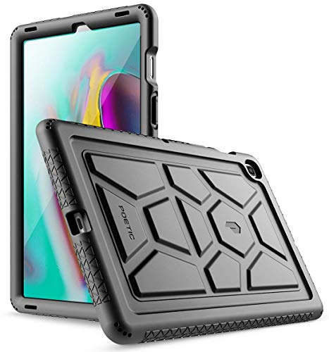 POETIC Galaxy Tab S5E Case, Heavy Duty Shockproof Kids Friendly Silicone Case Cover, TurtleSkin Series, for Samsung Galaxy Tab S5E 10.5 Inch (SM-T720/T725) 2019 Release, Black