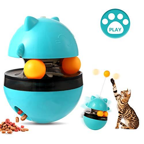 BERLISA Cat Slow Feeder Toy - Funny Tumbler Style, IQ Traning Interactive Treat...