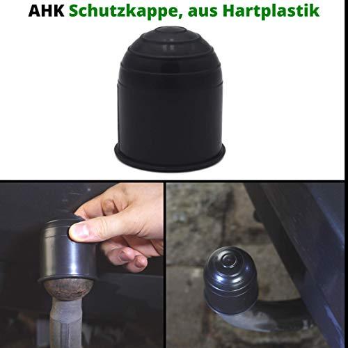 Universele afdekking voor trekhaak, tot 50 mm diameter kogelkopkoppelingen, van rubber, golfbalvorm, weerbestendig en wasstraatbestendig, bescherming tegen roestvlekken op kleding. 3 C – ABS hard plastic.