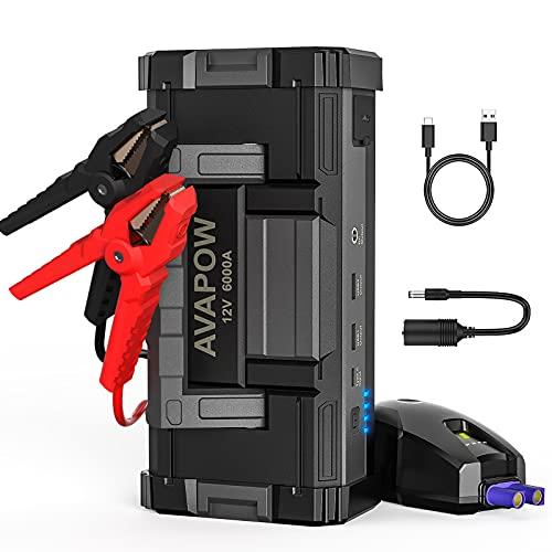 AVAPOW 6000A 32000mAh Car Battery Jump...