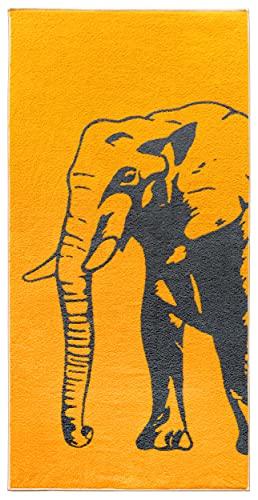 Lashuma Strand Handtuch Elefant, Modernes Badetuch 75x150 cm, Strandlaken Orange