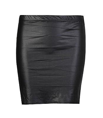 Forever Womens Plain Wetlook Skirts In