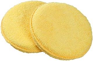 10 Pzs Frma redonda 4 pulgadas diametro Cojin de aplicador de cera de esponja Amarillo Cojin de esponja de cera de coche TOOGOO R