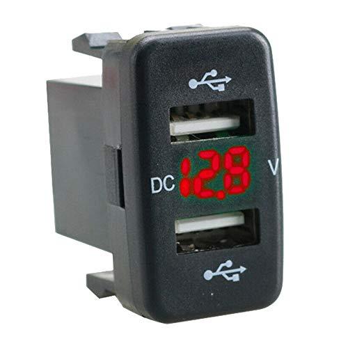 Summor Adaptador de Pantalla de Voltios de Carga de Puerto USB Dual para Cargador de Coche Adaptado para Red