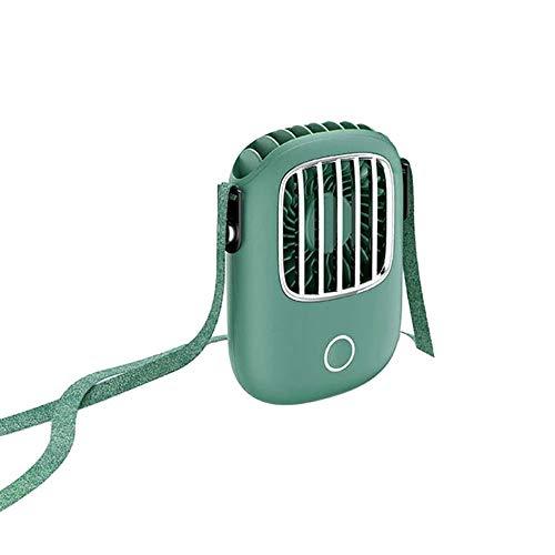 USB de estilo europeo Creative New mini ventilador pequeño ventilador perezoso colgado del cuello pequeño ventilador mini portátil de mano de alta potencia eólica de carga ultra silencioso de Estudian