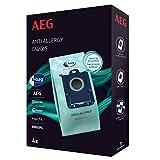 AEG GR206S s-Bag Anti-Allergy Staubsaugerbeutel (4 Synthetik Staubbeutel, hohe Filterleistung, reduziert u.a. Pollen, Milben & Allergene, ideal für Allergiker, passend für AEG, Electrolux, Philips)