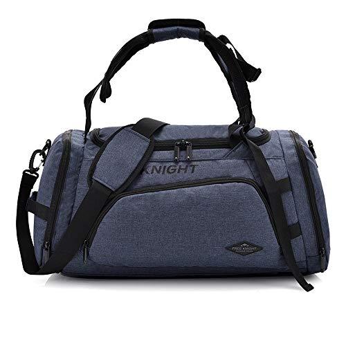 Free Knight Bolsa de Deporte 3 en 1 para Hombres, Mujeres, con Compartimento para Zapatos, 35 L, Gris Oscuro