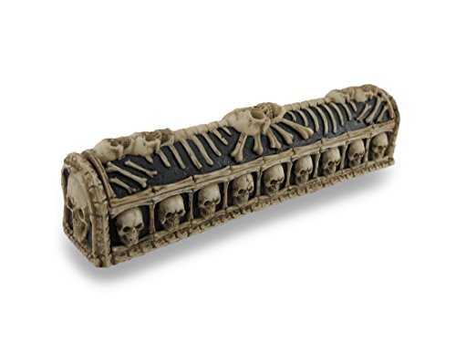 Things2Die4 Skull and Bones Coffin Incense Burner Box w/Storage Compartment