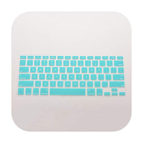 1pc Candy Colors Rainbow Silicone Keyboard Case Cover Skin Protector for iMac Macbook Pro 13' 15' Cover Protector-Style 4(Blue)