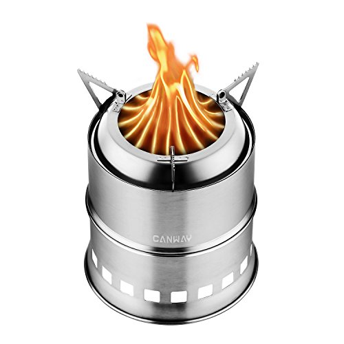 CANWAY Camping Stove, Wood Stove/Backpacking Stove,Portable Stainless Steel...