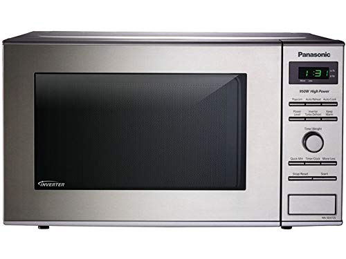 Panasonic NN-SD372S Small Countertop Microwave Oven – With Inverter Technology- Stainless Steel - 0.8 Cu. Ft. 950W (Silver) (Renewed)