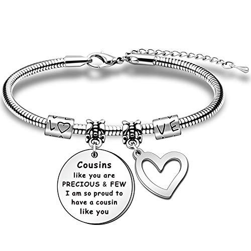 HULALA Charm Adjustable Cousin Bracelets For Women Girls Birthday Christmas...