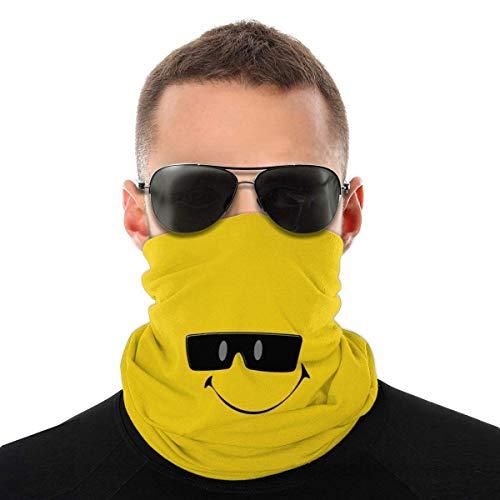 kasonj Smily_Face_in_Sonnenbrille Bandana Face Neck Gaiter Face Scarf Mask-Staub, Winddicht Atmungsaktiv Angeln Wandern Laufen Radfahren