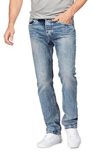 Bruno Banani Herren Jeans Jeanshose Carlos Bootcut (L34) (32, light blue)