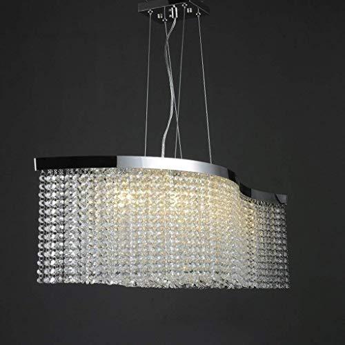 YHtech nórdico Acero Inoxidable Iluminación LED G9 Lustre Pendiente de la luz lámparas Lámpara Colgante Llevado lámparas Verticales arañas de Cristal de Lujo