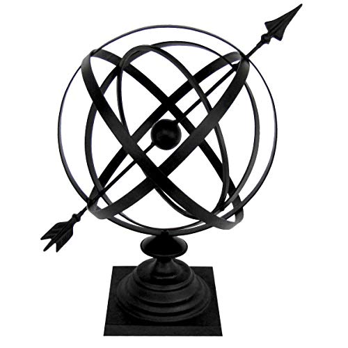 Sundial Cast Iron 24 Armillary Garden Arrow Sphere Yard Lawn House Home D?cor