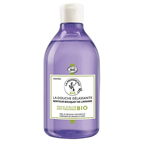 La Provençale - La Douche Délassante Senteur Bouquet de Lavande - Gel Douche Certifié Bio - Huile d'Olive Bio AOC Provence - 500 ml