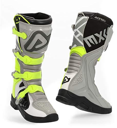 Acerbis X-Team Motocross Boots Grey/Yellow 46