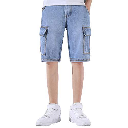 IZHH Shorts pour Hommes Shorts de Mode d'été Nouveau Style Mode Léger Cordon Style Droit Style Pantalon Confortable Cargo Shorts