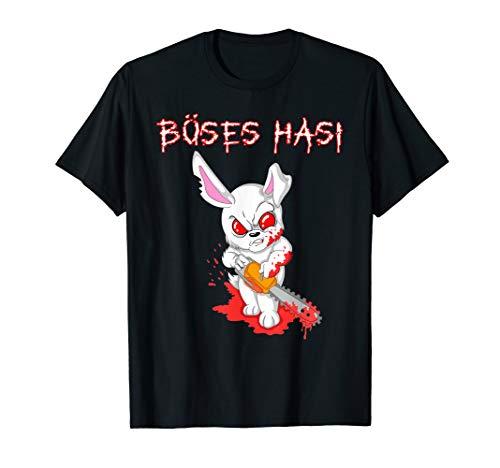 Böses Hasi Halloween Fasching Kostüm für Herren und Damen T-Shirt