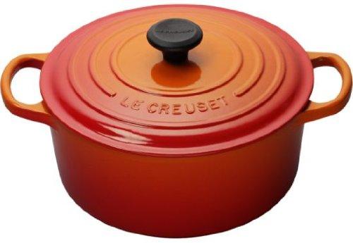 Le Creuset Enameled Cast Iron Signature Round Dutch Oven, 9 qt., Flame