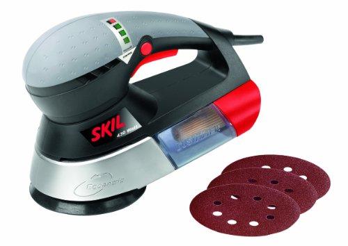 Skil Exzenterschleifer 7450AA (430W, Ø125 mm, Pressure Controll, +3 tlg. Schleifpapierset)