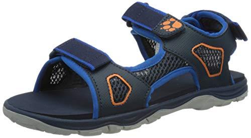 Jack Wolfskin Jungen Unisex Kinder TARACO BEACH SANDAL K Freizeitsandale, Blue/orange, 29 EU