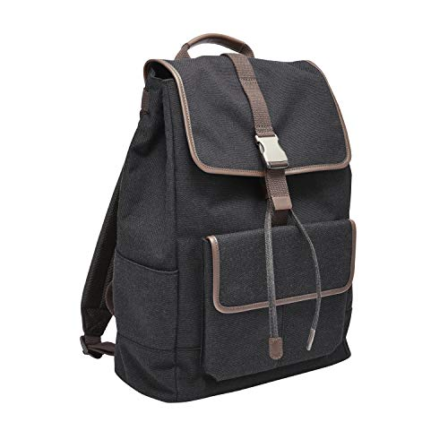 Fossil Men's Buckner Rucksack Backpack, Black/Brown, One Size