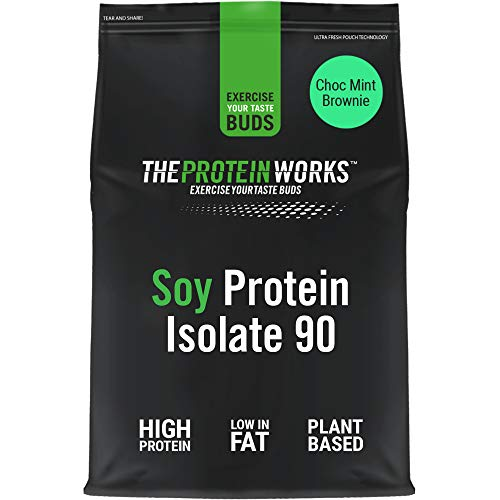 Soy Protein 90 (Isolate) Protein Powder | 100% Plant-Based | Low Fat | No Added Sugar | Gluten-Free | THE PROTEIN WORKS | Choc Mint Brownie | 1 Kg