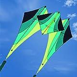 Tylyund Cometas Walking Sky Delta Kite Cometas Al Aire Libre para Adultos Niños Flying Power Windsurf Kite String Soft Kite Cometas Colgante