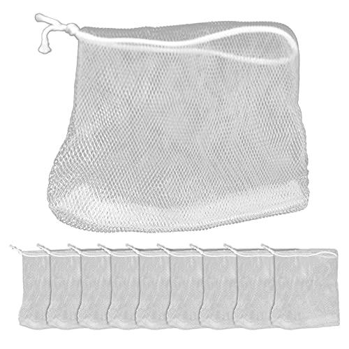 Bolsa De Espuma De Jabón, Bolsa De Malla De Burbujas De Jabón Eficaz Y Segura Para Ducha De Baño Para Limpieza Facial Corporal