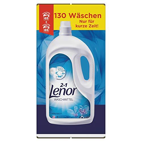 Lenor Waschmittel Flüssig, Flüssigwaschmittel, Lenor Aprilfrisch mit Duft von Frühlingsblumen, 130 Waschladungen (7.15 L)