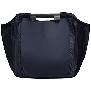 Customer reviews Jecxep Reusable Grocery Shopping Bags Shopping Cart Bag - 68L Large Heavy Duty Nylon for Shopping with Handles, Foldable Picnic Bag (Black):Dailyvideo