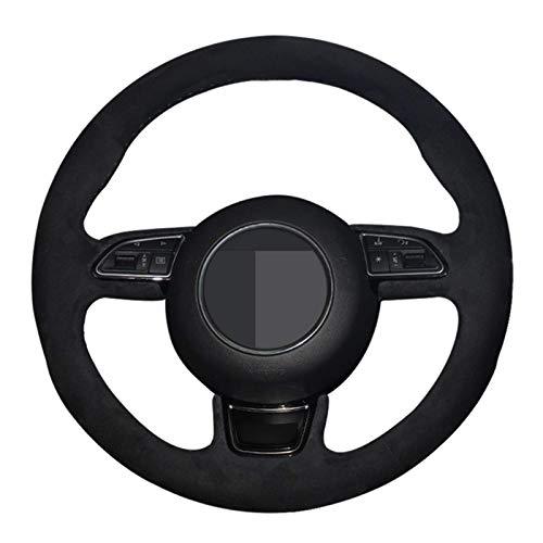 XIAHUAIREN Funda para volante cosida a mano, color negro, para Audi A1 8X A3 8V Sportback A4 B8 Avant A5 8T A6 C7 A7 G8 A8 D4 Q3 8U Q5 8R