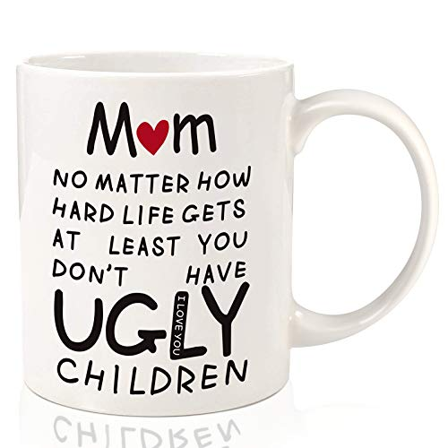 Donse Gifts for Mom Mothers Day Gifts from Daughter Son Funny Ceramic Coffee Mug: Birthday Gifts for Grandmother Mother in Law Step Mother Her ampWomen Who Love Coffee CupsUnique Mothers Gifts11oz