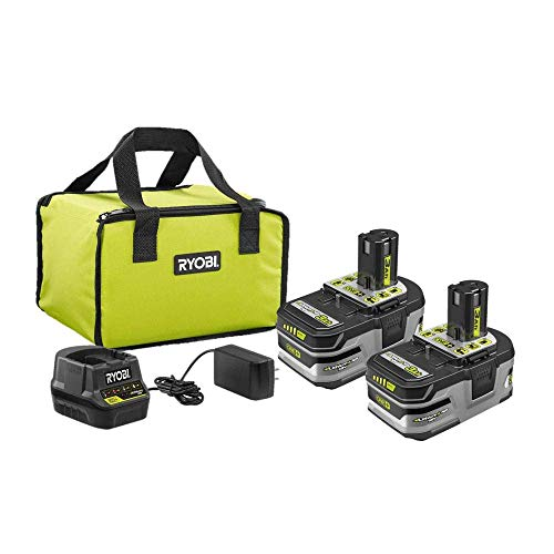 RYOBI 18V ONE+ Lithium+ HP 3.0 Ah Battery 2-Pack Starter Kit with Charger and Bag P166 (4-Pack)