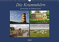 Die Krummhoern Gemeinde in Ostfriesland (Wandkalender 2022 DIN A3 quer): Der Fotograf Rolf Poetsch zeigt hier einen Teil der schoensten und sehenswertesten Orte der Krummhoern in Ostfriesland (Monatskalender, 14 Seiten )
