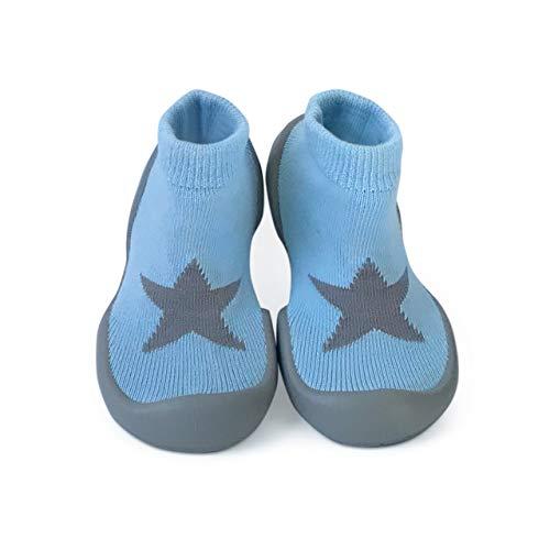 Step Ons Buty do raczkowania, buty antypoślizgowe i buty do biegania – półskarpety + półbuty., niebieski - Niebieska Gwiazda - 6�12 miesi?cy