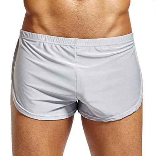 S-XL Boxershorts Herren EIS Seide Unterwäsche Männer Underwear Panties Schlüpfer Retroshorts Unterhose Briefs Underpants Unterhosen CICIYONER