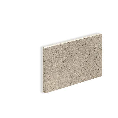 Vermiculite Platte Schamott-Ersatz für Kamin-Ofen Feuerraum Auskleidung SF600 500x300mm 30mm Stärke Temperaturbeständig bis 1100 °C mind. 600kg/m³ Rohdichte (1x)