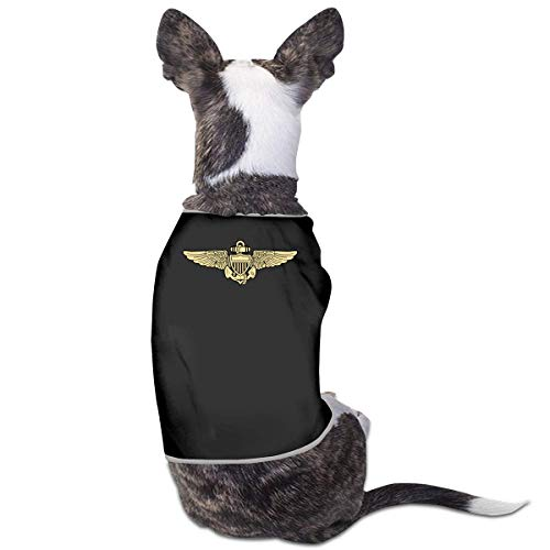 Florasun Flieger-T-Shirt für Hunde, Größe M, Schwarz