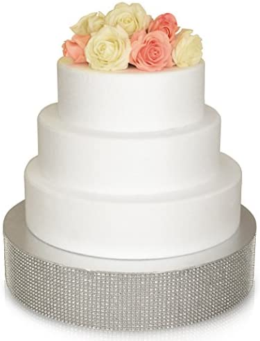 OCCASIONS Bling Wedding Cake Stand Holds 150 lbs Cupcake Base Decorative Centerpiece for Parties product image