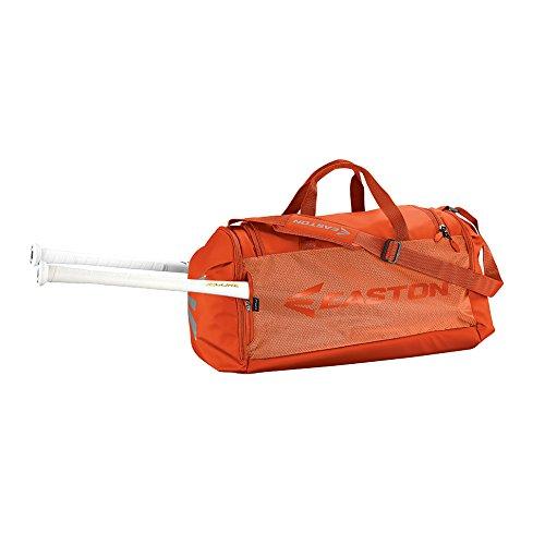 EASTON E310D Player Bat & Equipment Duffle Bag   Baseball Softball   2020   Orange   2 Schlägerhüllen   alle belüfteten Taschen   Schuhfach   Hauptfach für Ausrüstung   2 Seitentaschen   Zaunhaken
